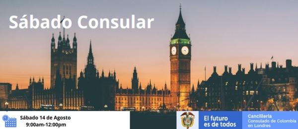 Consulado de Colombia en Londres realizará la Jornada de Sábado Consular el 14 de agosto