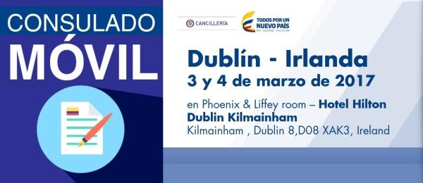 Consulado de Colombia en Londres estará con su unidad móvil en Dublín