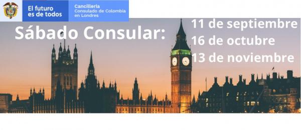 El Consulado de Colombia en Londres se realizará las jornadas de Sábado Consular