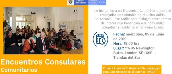 El 5 de junio se realizará el Encuentro Consular Comunitario organizado por el Consulado de Colombia