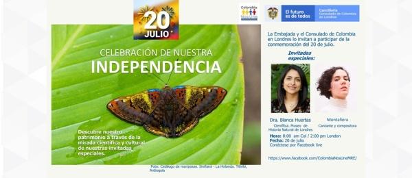 La Embajada y el Consulado de Colombia en Londres lo invitan a participar de la conmemoración del 20 de julio en 2021